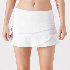 Lucky In Love Scallop Tennis Skirt Skort - White